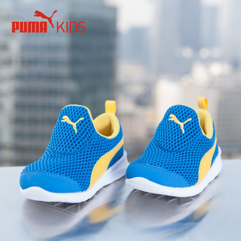7f38ca8cf0a PUMA Bao Summer New Air Mesh Boy Kids Sneakers Slip On Lightweight  Comfortable Sport Running Shoes Luxury Brand Children Shoe -in Sneakers  from Mother ...
