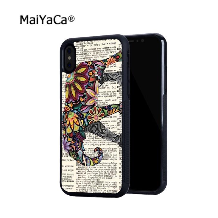 Elefante moda venda quente borda suave casos de telefone para o iphone x 5S se 6 6 6 s plus 6 splus 7 7 plus 8 8 plus X XR XS caso MAX
