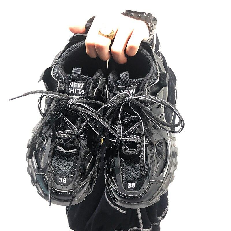 INS Superstar Men's Chunky Sneakers Fashion Basket Men Platform Dadly Shoes Lace Up Men Trainers Tenis Masculino Balck Orange