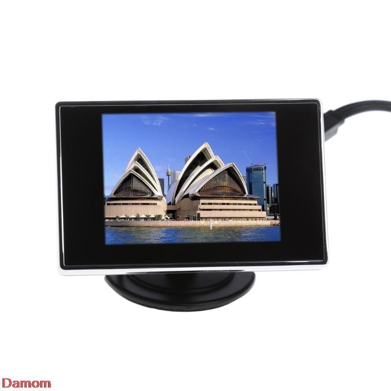 3.5 TFT LCD Color Monitor Screen DVD VCD For Car Rear View Backup Camera touch 7inch car sun visor dvd tv media screen&rear view silver backup monitor camera kits