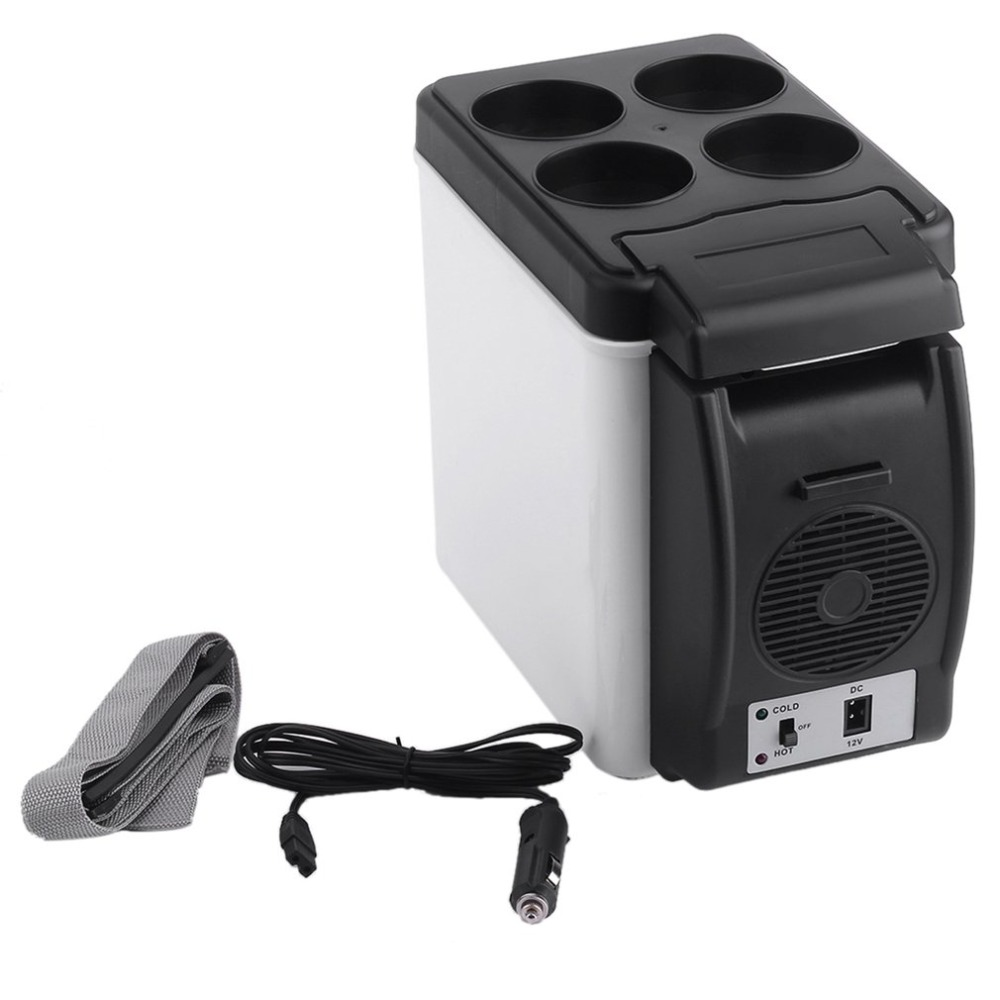 Portable Size 12V Car Small Refrigerator Mini Fridge Cooler & Warmer Enough Capacity 6L White No Need for Refrigerants