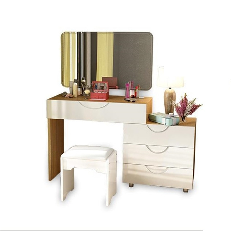 Chambre Mesa Tocador De Maquillaje Makeup Schminktisch Camera Da Letto Retro Wood Korean Bedroom Furniture Quarto Dressing Table wooden dressing table makeup desk with stool oval rotation mirror 5 drawers white bedroom furniture dropshipping