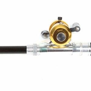 Image 4 - Новый 1 шт. портативный карманный Телескопический Мини рыболовный Полюс Ручка форма складные удочки с катушкой ручка удочки колеса