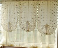 Three dimensional cherry bud curtain waterfall yarn curtain roman blind kitchen curtains for living room bedroom drapes 83*175cm