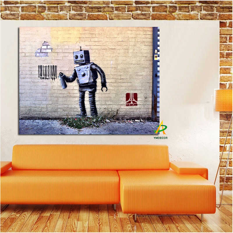 Print Graffiti Abstract Street Wall Pop Art Spray Bar Code Painting on Canvas Poster Wall Picture for Living Room Cuadros Decor