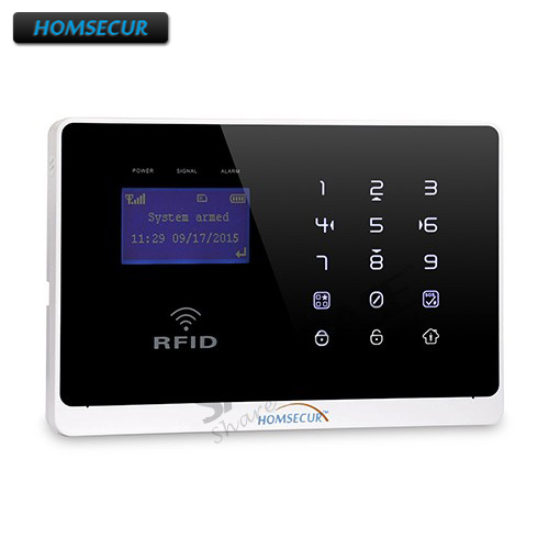 HOMSECUR New APP Controlled GSM Home Security Alarm Panel for Our 433Mhz Alarm System