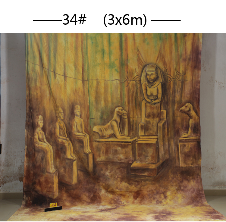 Здесь продается  Professional Egypt style Scenic 10x20ft Muslin 100% Stroke Hand-Painted Photo Backdrop Background customized size & photo  Бытовая электроника