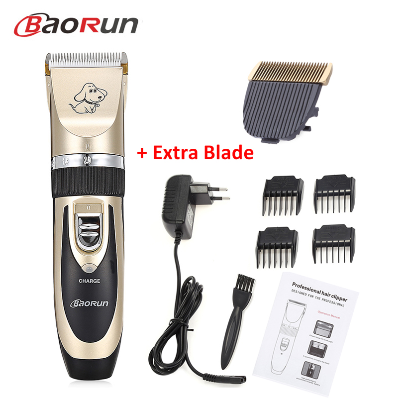 Electrical Dog Clippers Pet Cat Hair Trimmers Dog Grooming Cutter Dog Animal Haircut Replace Blade Head Eu Us Plug Rechargeable