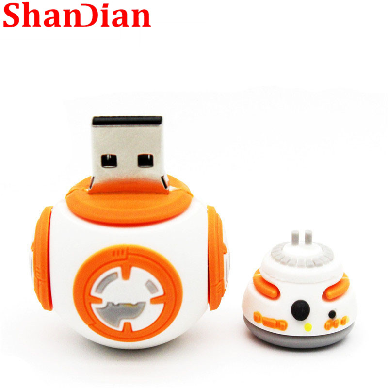 Image 3 - SHANDIAN hot sale cartoon flash memory card with usb 4GB 16GB 32GB 64GB Star Wars Robot all styles USB 2.0 Pen drive pendriver-in USB Flash Drives from Computer & Office