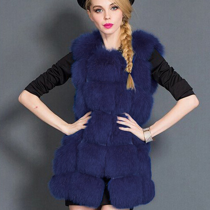 Faux Fur Coat Winter Women 2018 New Fashion Casual Sleeveless Jacket