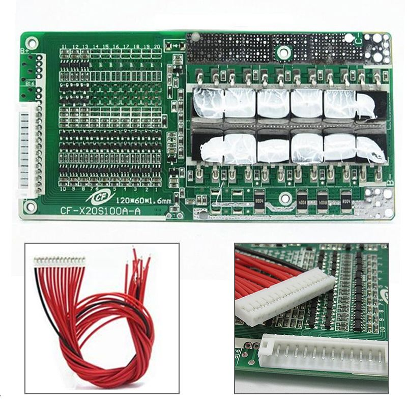 1pc 48V 14S 45A Li-ion Battery Power Protection Board Lipolymer Battery BMS PCB With Balance For Ebike Escooter Mayitr
