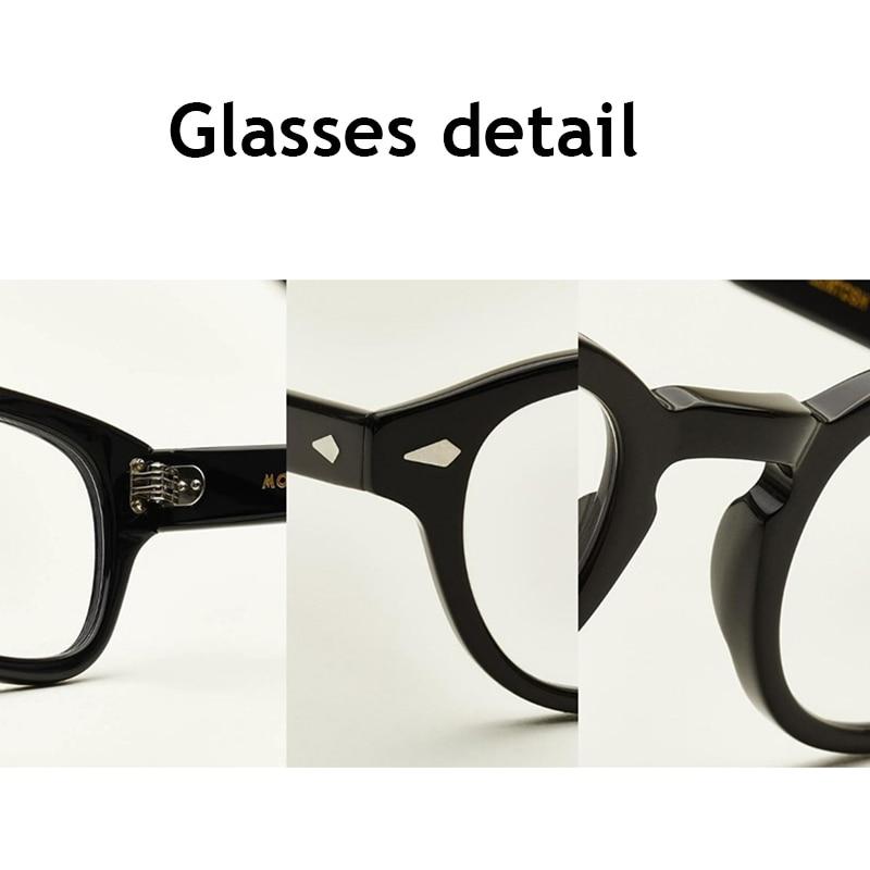 Image 5 - Johnny Depp Glasses Men Women Computer Goggles Round Transparent Eyeglass Brand design Acetate Style Vintage Glasses Frame sq004-in Men's Eyewear Frames from Apparel Accessories