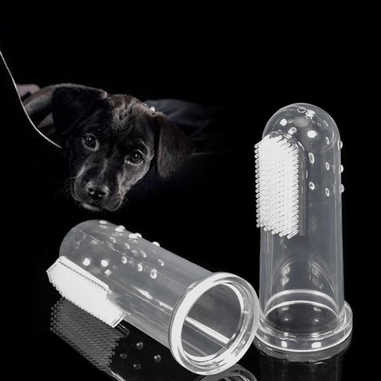 Cat Dog Soft Finger Toothbrush Pack of 6 Soft Silicone font b Pet b font Finger