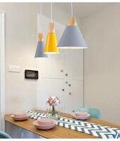 Nordic Solid Wood Chandelier Modern Simple Color Bedroom Cafe Hotel Bar Bar Wooden Hanging Lamps
