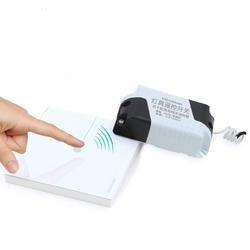 Удаленный Беспроводной сенсорный выключатель 1 Gang 1 Путь, кристалл Стекло переключатель Сенсорный экран настенный выключатель для Умный