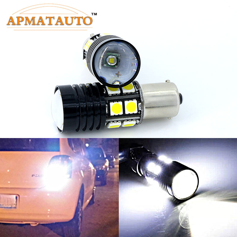 Pair White Canbus  1156 P21W BA15S  7440 T20  T15 W16W  No Error For CREE Chips  LED Bulbs   Car Tail  Backup Reverse Lights 1pcs 80w w cree chips 1156 s25 p21w ba15s led bulbs canbus car backup reverse light parking lamp drl white for vw audi a4 bmm