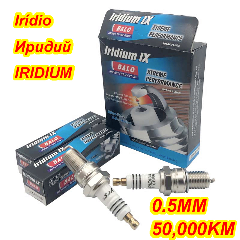 Buy BALO Iridium Spark Plug EIX-BPR6 4pcs/lot for BPR6ES BPR6EIX BPR6EVX IW20 VW20 W20EPR W20EXR-U BY480-BPR6E PW20TT RN9GY IW20TT for $14.21 in AliExpress store