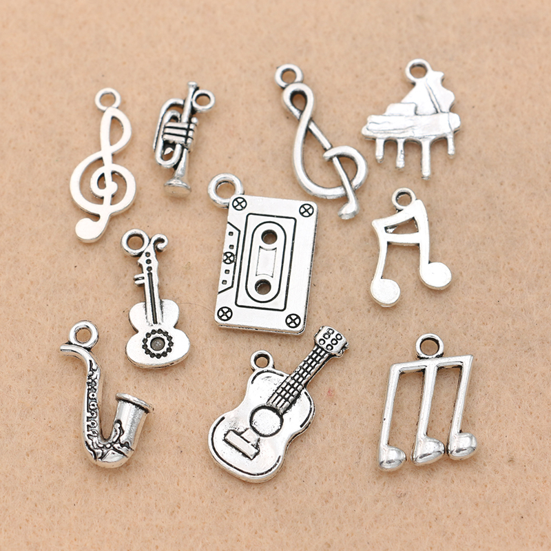 Wholesale 10pcs Tibet Silver  Bicycle Crafts Charms Pendants Making Jewelry