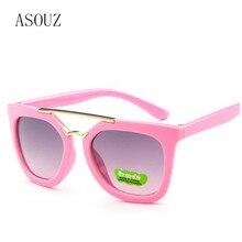 ASOUZ новые модные мужские и женские детские солнцезащитные очки Классический фирменный дизайн овальные детские очки UV400 ретро повседневные солнцезащитные очки