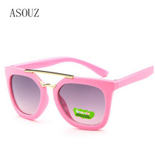 ASOUZ new fashion men and women childrens sunglasses classic brand design oval child glasses UV400 retro casual