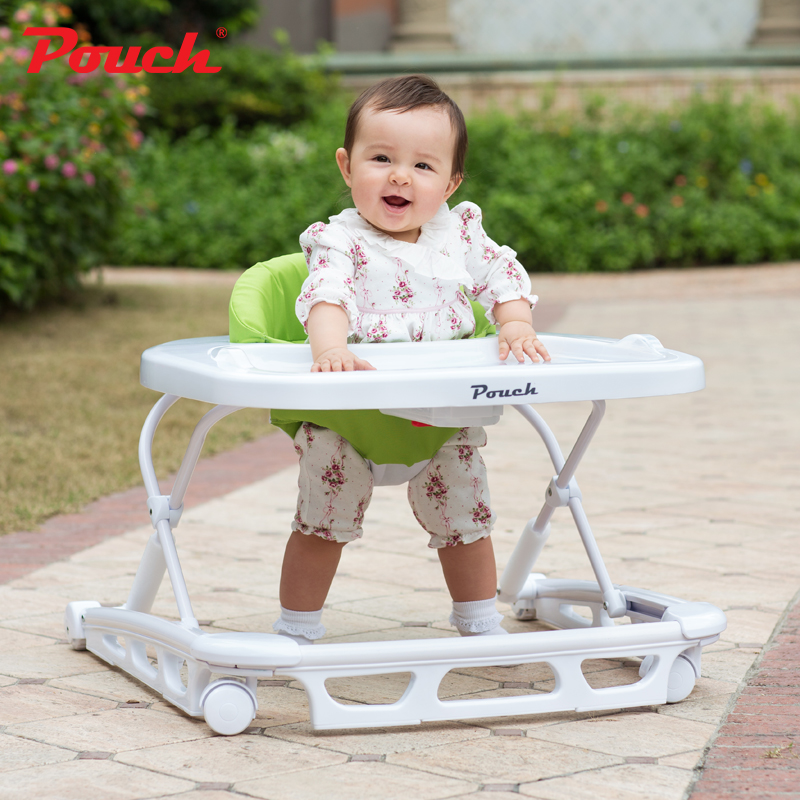 цена на Pouch Fashion Foldable Baby Walker, U-shaped Anti-rollover Baby Walking Car, Multifunctional Walker for 6-18 Months kids