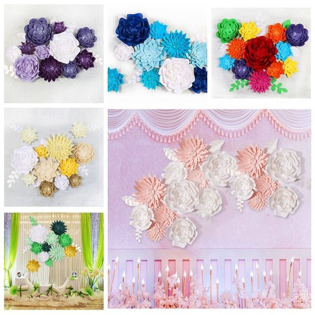 1pc paper flower backdrop wall 20cm giant flowers diy wedding party 1pc paper flower backdrop wall 20cm giant flowers diy wedding party stage decor creative diy wedding mightylinksfo