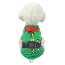 Pet Dog and Cat Clothing Velvet Embroidery Christmas Costume