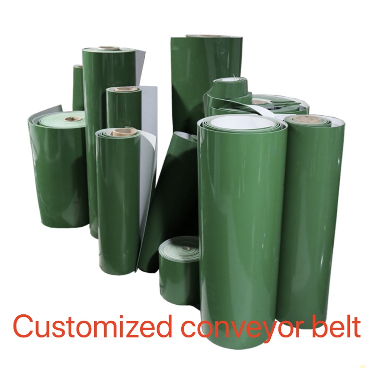 (Customized conveyor belt)PVC Green Food Grade Light fFat Line Industrial Conveyor Belt high quality food grade pvc conveyor belt plastic conveyor belt