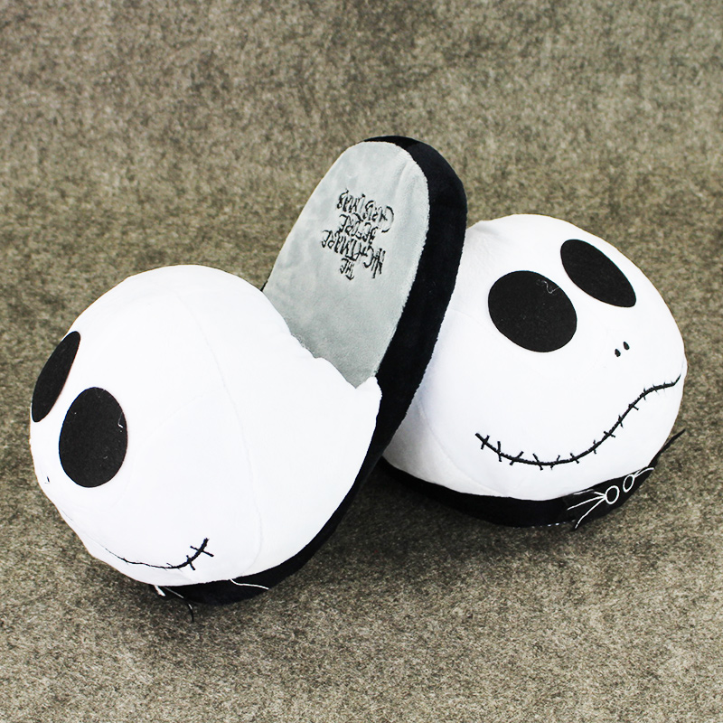 The Nightmare Before Christmas Slippers Jack Skellington Warm Plush Slippers Stuffed Shoes for TeenagersThe Nightmare Before Christmas Slippers Jack Skellington Warm Plush Slippers Stuffed Shoes for Teenagers