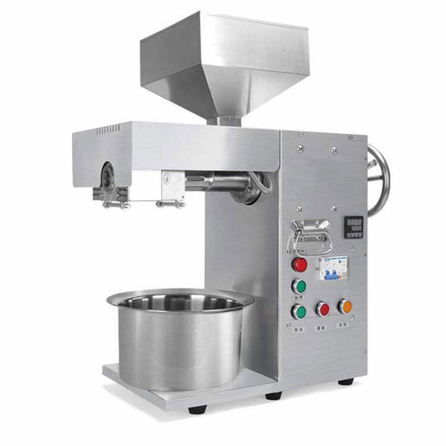 US $1196 29 19% OFF|Automatic oil press machine, Small business oil presser  for home, stainless steel seed oil extractor, oil extraction machine-in