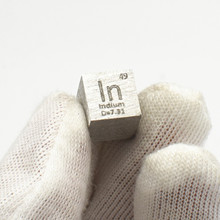 Indium Cube 10x10x10mm In Rare Expensive Metal Element Collection Hobbies Science Experiment Density Development Business Gift