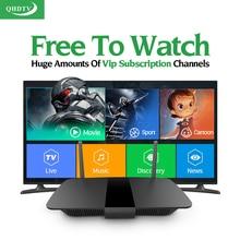 Smart Q1504 Android TV Box спортивные Каналы французский арабский Германия итальянский IP Великобритании ТВ QHD ТВ подписки дополнительно