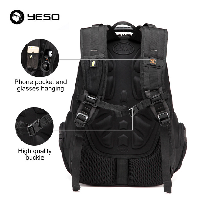 YESO New Men's Laptop Backpacks 2019 Business Casual Back Pack For Teenager Large Capacity Black Computer Backpack Male Mochilas