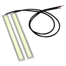 2Pcs Waterproof LED Car DRL Daytime Running Lights DC 12V COB Light Source Car-styling Fog Lamp Bar Super Bright