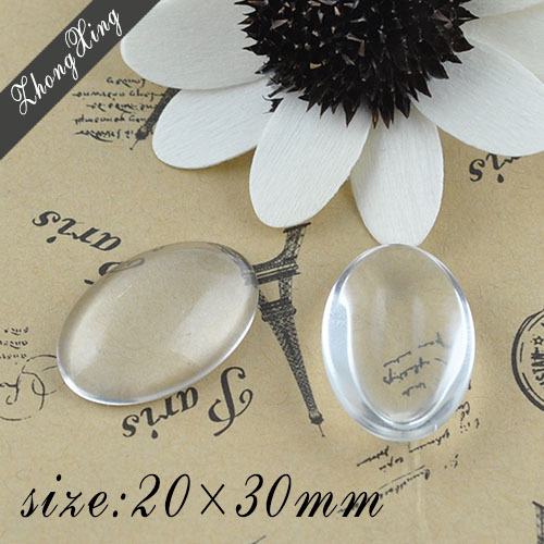 20x30mm Clear Oval domed magnifying glass cabs, glass round, round glass inserts pendant Tray