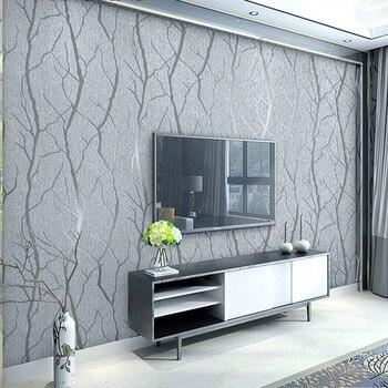 Rouleaux de papier peint en Non-tissé, mode moderne, minimaliste, en relief en 3D, à rayures murales pour le salon, le canapé avec fond mural pour la télévision