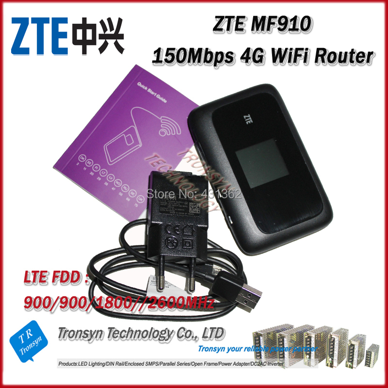 Hot Sale New Original Unlock 150Mbps ZTE MF910 4G WiFi Router With Sim Card Slot Support LTE FDD B3 B7 B8 B20 new arrival original unlock huawei e8372h 150mbps 4g lte 12v car wifi router support b3 b7 b8 b28 b40