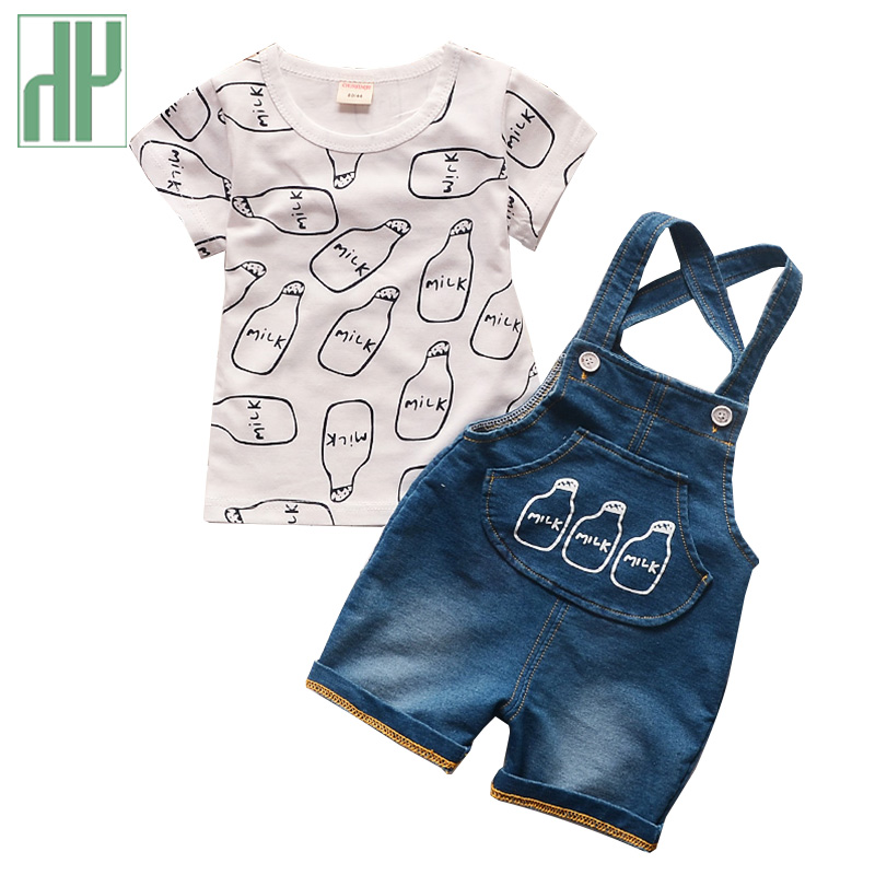 toddler Boy Summer Clothes Children Clothing Sets Baby Products Tops+jeans Cool Denim Tracksuit Toddler Outfits Kids Clothes 1