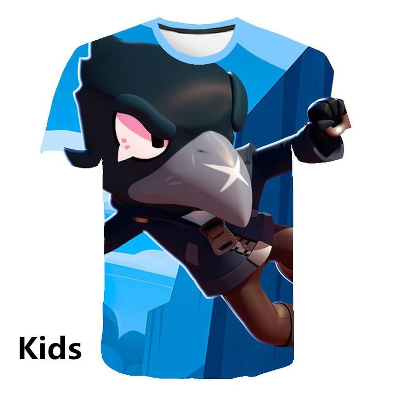 2019 Summer New Shooting Game   T     Shirt   Men Women 3D Print Brawl Stars   T  -  shirt   Cartoon Fashion Streetwear Tops Plus Size 100-160