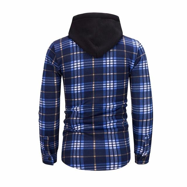 ZOGAA New Style Hoodies Men Plaid Hoodie Fashion Streetwear Hoody Sweatshirt For Men Clothing 2018 Long Sleeve Hooded Top 5