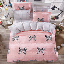 Duvet Cover 3/4 pcs Bedding Set Child Girl Adult Bed Linens Quilt Comforter Pillow Case Single Double Queen King Size24(China)
