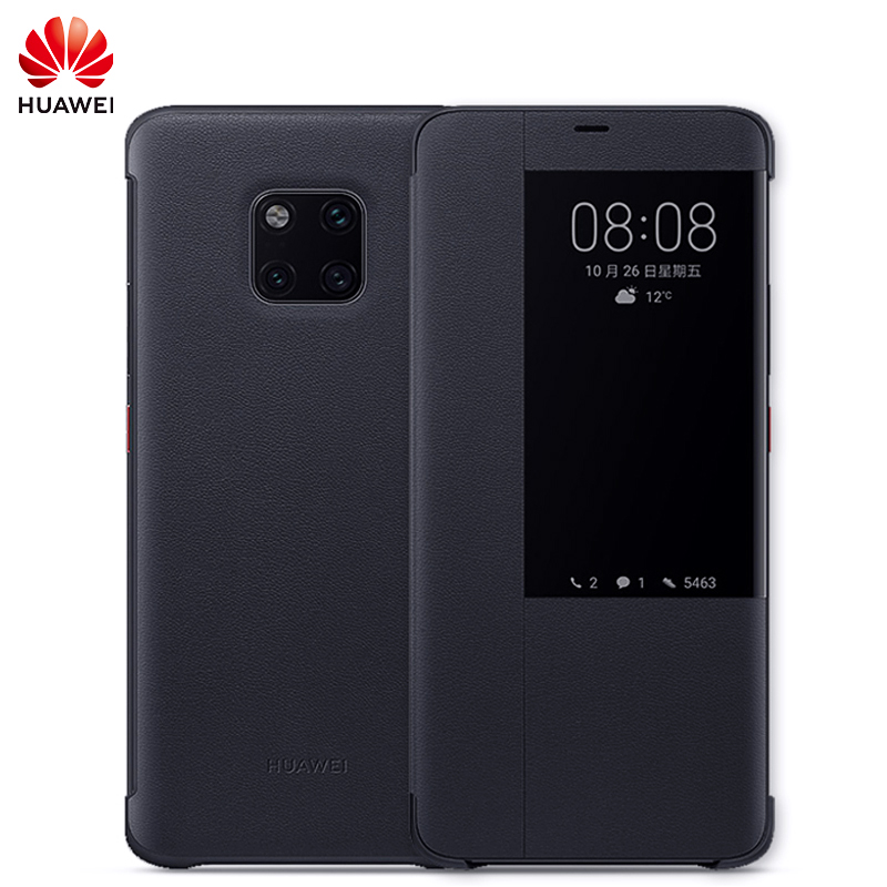 Original Huawei Mate 20 Pro case Mate 20 case silicone smart cover flip leather have Huawei logo 360 shockproof magnetic mate20