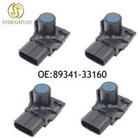 NEW SET(4) 89341 33160 Park Ultrasonic Sensor for 08 2012 Toyota Sequoia 07 09 Lexus LX570 2007 Toyota Aurion 188300 1670 Blue