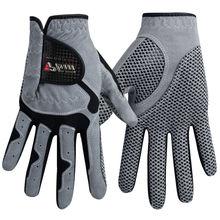 Мужские перчатки для гольфа микроволокно мягкая левая рука анти-скольжение Нескользящие частицы дышащие перчатки для гольфа