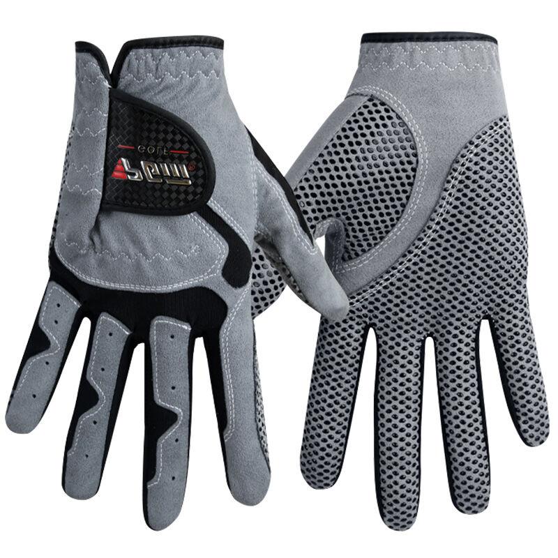Männer Golfhandschuh Micro Faser Weich Links Hand Rutschfeste anti-rutsch-heißer partikel Atmungs Golfhandschuh