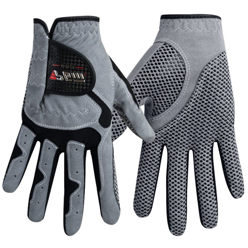 Men's Golf Glove Micro Fiber Soft Left Hand Anti skidding Non slip particles Breathable Golf Glove|mens golf gloves|golf gloves|golf gloves men - title=