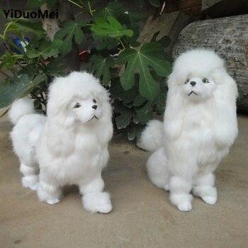 simulation animal large poodle  toy dog model toy ,polyethylene&furs Resin handicraft,decoration gift, d308