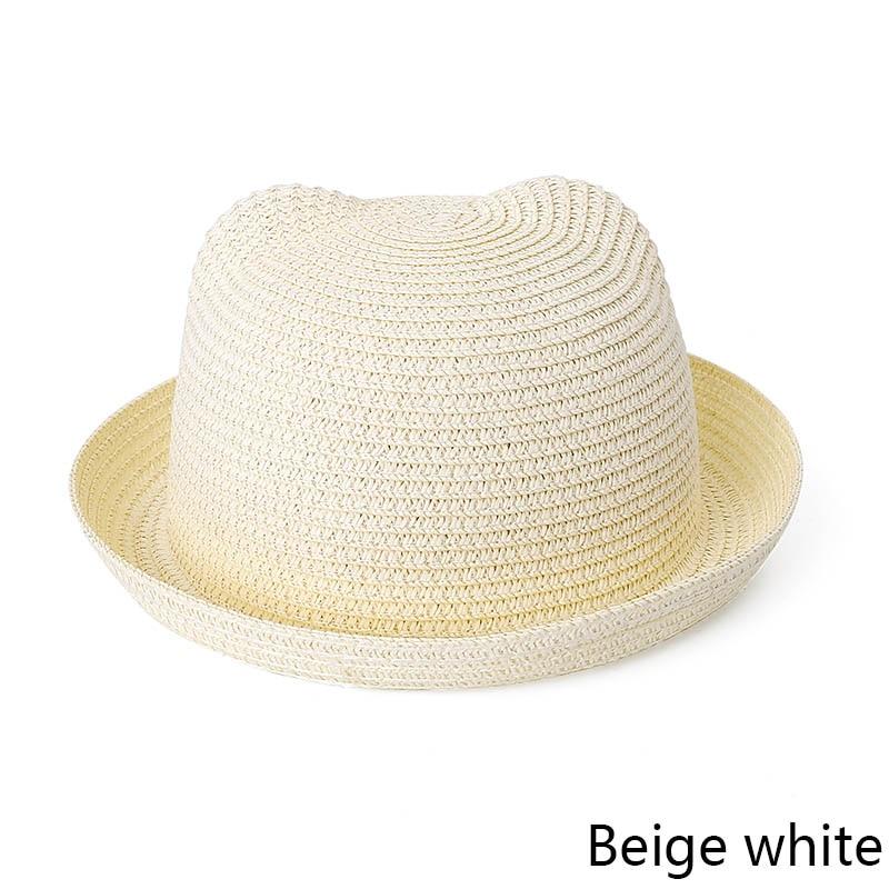b295ef1b6ba Dropwow MOLIXINYU Fashion Ears Straw Hats Baby Hats For Girls Bucket ...