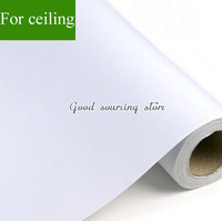 Pure White Color Self Adhesive Ceiling Wallpaper