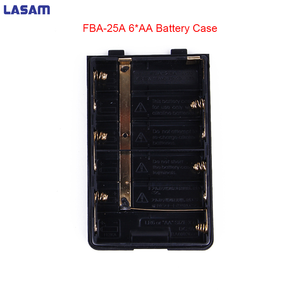 LASAM FBA-25A 6*AA Battery Case Shell Pack for Yaesu/VERTEX Portable Radio Walkie Talkie FT60R VXA-200 VXA-210 VXA-300 VX-150